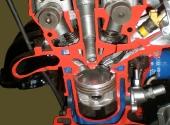 Поперечный разрез двигателя ЗМЗ-406.