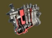 ТНВД двигателя К-740 в разрезе.