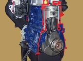 Поперечный разрез дизельного двигателя КИА.