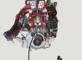 Двигатель гидроцикла YAMAHA FX SHO 1800 в разрезе.