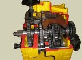 Коробка передач трактора МТЗ-80 в разрезе.