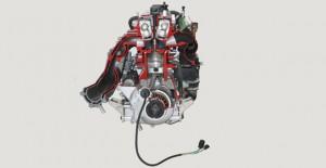 Разрезная модель четырёхцилиндрового морского двигателя Yamaha